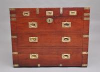 19th Century Teak & Brass Bound Campaign Trunk (2 of 10)
