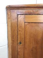 Rustic Antique Pine Corner Cupboard (4 of 8)