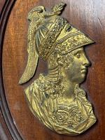 Pair of Interesting 19th Century Gilded Bronze Alexander The Great & Napoleon Cameo Plaques (22 of 29)
