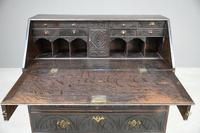 Carved Oak Writing Bureau (10 of 13)