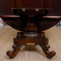William IV Rosewood Breakfast Table Tilt Top Centre Dining Table (5 of 12)
