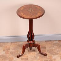 Good Quality Marquetry Walnut Occasional Tip Table (9 of 14)