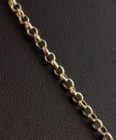 Antique 9ct Gold Fancy Link Chain Necklace, Edwardian (4 of 10)