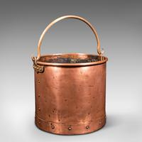 Pair of Antique Fireside Bins, English, Copper, Coal, Fire Bucket, Victorian (4 of 12)