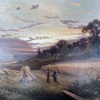 Antique Victorian Large Landscape Oil Painting in Ornate Gilt Gesso Frame Signed H Jones (5 of 10)