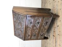 Early 20th Century Oak Carved Bureau (8 of 10)