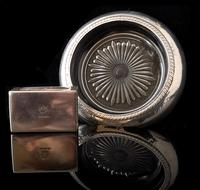 Art Deco Silver Smoking Set, Ashtray, Match Safe (6 of 9)