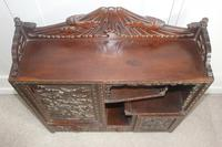 Antique Japanese Carved Wood Tabletop Cabinet c.1900 (9 of 15)