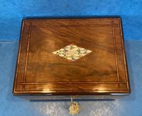 Victorian Walnut Jewellery Box c.1860 (11 of 14)