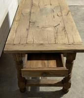 Rustic French Oak 19th Century Farmhouse Kitchen Table (25 of 31)