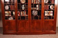 Four Door Breakfront Bookcase In Mahogany-19th Century (2 of 10)