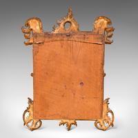 Small Antique Vanity Mirror, Italian, Giltwood, Dressing, Victorian c.1890 (10 of 10)