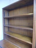 Amazing Matching Pair of Carved Victorian Golden Oak Adjustable Bookshelves (6 of 9)