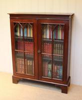 Mahogany Gothic Glazed Bookcase (2 of 11)