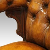 Victorian Leather Revolving Desk Chair (8 of 8)