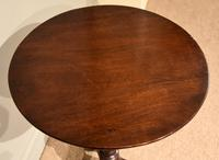Georgian Mahogany Pedestal Lamp / Occasional Table (3 of 5)