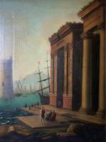 After Claude Lorrain Huge Superb 19th Century Venice Seascape Oil Painting (8 of 22)