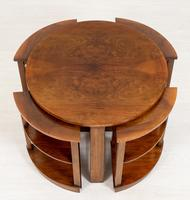 Walnut Art Deco Nest of tables (2 of 7)