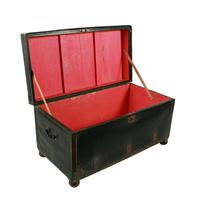 Georgian Leather Bound Campaign Trunk (3 of 8)