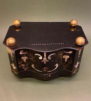 Good Quality 19th Century Papier Mache Tea Caddy (5 of 6)