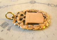 Antique Pocket Watch Chain Fob 1890s Victorian Brass Patented Fancy Shield Fob (5 of 7)