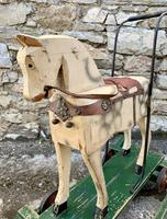 Antique Wooden Push Along Rocking Horse Toy (17 of 19)