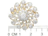 3.76ct Diamond & 9ct Yellow Gold Brooch / Pendant - Antique c.1880 (7 of 9)