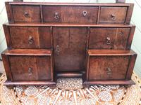 Antique Queen Anne Style Walnut Dressing Table Mirror (7 of 9)