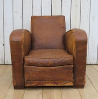1930s French Leather Club Chair (2 of 13)