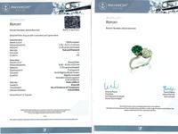 1.70ct Colombian Emerald & 2.18ct Diamond, Platinum Twist Ring - Antique c.1920 (6 of 9)