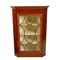 Georgian Mahogany Glazed Corner Cabinet