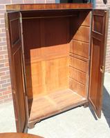 1940s Mahogany 2 Door Wardrobe with Brass Fitting (2 of 4)