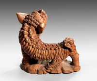Late 19th Century Carved Wooden Dog (4 of 6)