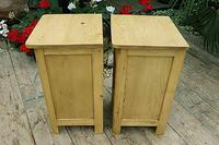 Cute & Quality Old Stripped Pine Bedside Cabinets (7 of 9)