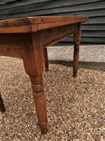 Lovely 19th century pine small farmhouse style kitchen dining table (4 of 12)