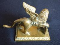 Brass Figure of the Winged Lion of St. Mark (5 of 7)
