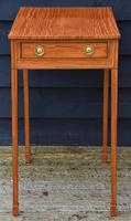 Superb Quality Georgian Satinwood & Inlaid Lamp / Wine / Side Table with Drawer