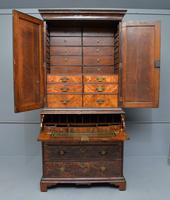 Early 18th Century Walnut Secretaire Writing Cabinet (9 of 31)