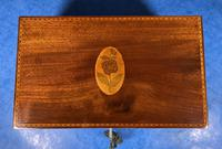 George III Solid Mahogany Box With Wonderful Inlaid Panels (8 of 18)