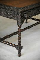 Antique Anglo Indian Carved Padouk Library Table (33 of 34)
