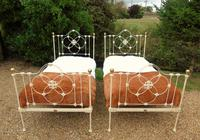 Pretty Pair of Victorian Large Single Beds Seventh Heaven (11 of 11)
