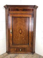 Georgian Oak Corner Cupboard with Inlay (2 of 10)