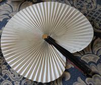 Unusual Vintage Black Framed Folding Fan - Ideal Gift (3 of 7)