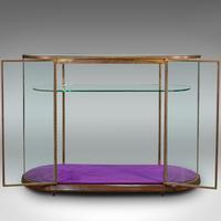 Large Antique Glazed Display Cabinet, English, Bronze, Shop, Showcase, Edwardian (7 of 12)