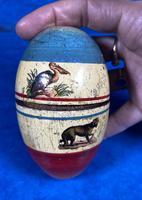 19th Century Skittles Game in Tunbridge Ware White Wood Painted Egg (17 of 21)