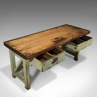 Large Antique Silversmith's Table, English, Pine, Industrial, Bench, Victorian (8 of 12)