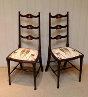 Pair of Beechwood Art Nouveau Chairs (7 of 10)