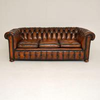 Antique Victorian Style Deep Buttoned Leather Chesterfield Sofa (2 of 8)