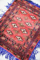 Afghan Red Saddle Bag Cushion Cover (2 of 9)