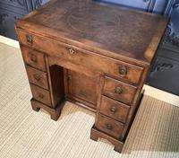 George III Style Burr Walnut Desk c.1920 (10 of 20)